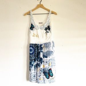 Desigual blue design mini dress
